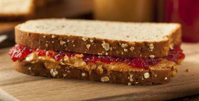 image of a Peanut butter and jelly sandwich