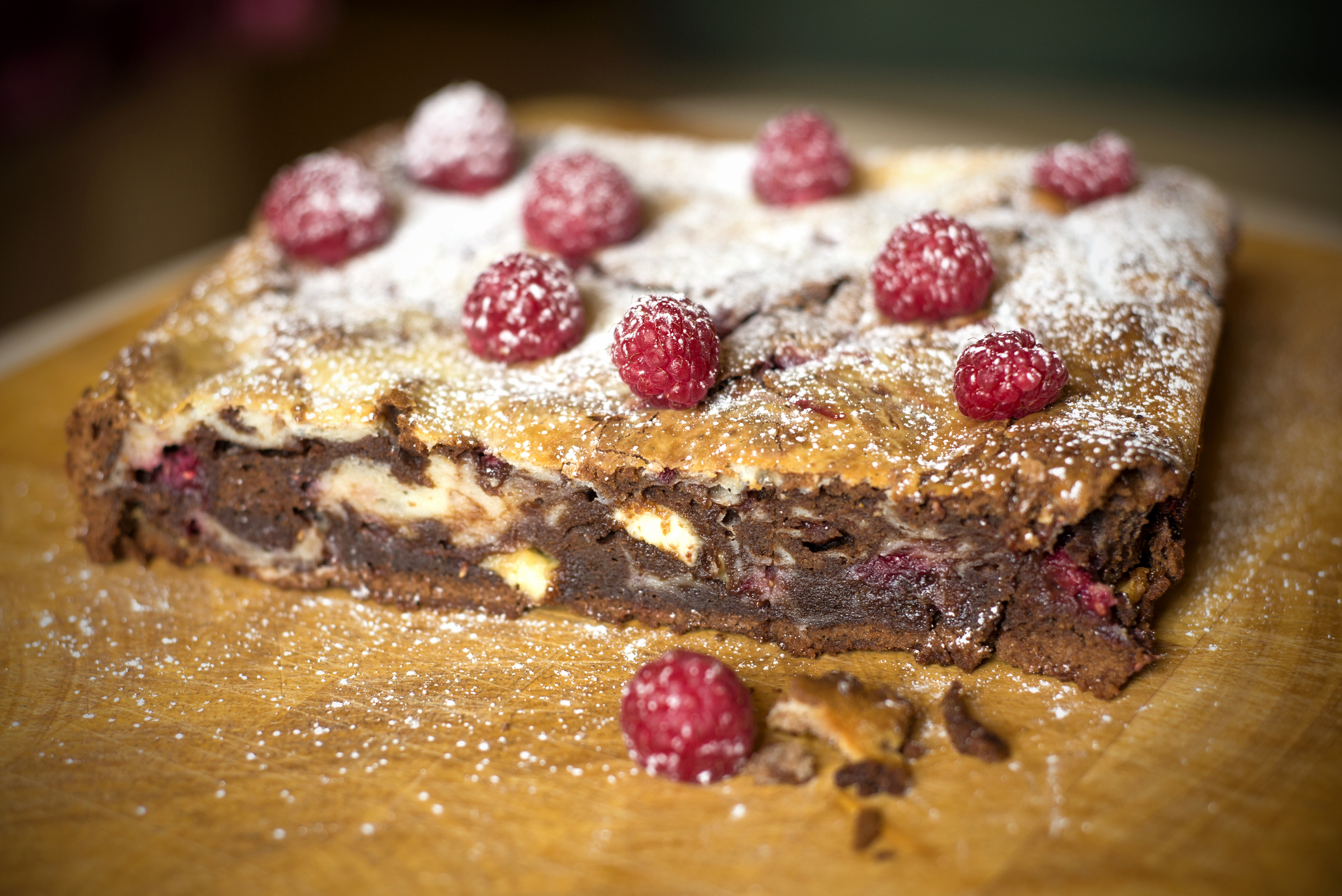 Chocolate Chip Raspberry Brownies